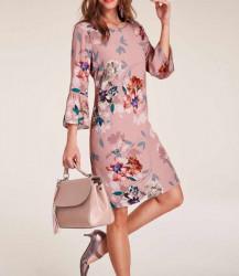 Šaty s kvetinovou potlačou Heine, ružová