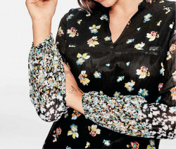Šaty s kvetinovou potlačou Rick Cardona, viacfarebná #4