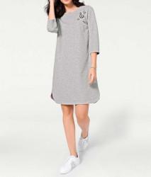 Šaty s mašľou Rick Cardona, strieborno-sivá #1