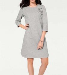 Šaty s mašľou Rick Cardona, strieborno-sivá #2