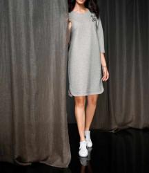 Šaty s mašľou Rick Cardona, strieborno-sivá #5