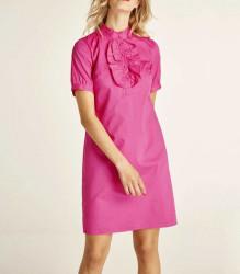 Šaty s ozdobným riasením Heine, malinová