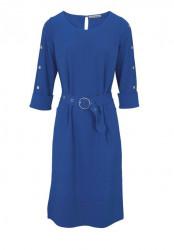 Šaty s ozdobnými gombíkmi Ashley Brooke, modrá