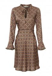 Šaty s potlačou Ashley Brooke, hnedé