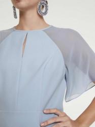 Šaty s priesvitnými rukávmi Heine, svetlo modrá