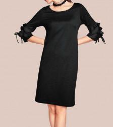 Šaty s volánikmi Rick Cardona, čierna #1