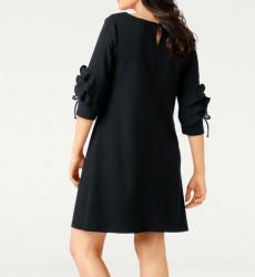 Šaty s volánikmi Rick Cardona, čierna #3