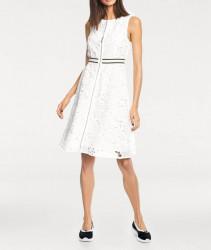 Šaty s vyšívanou čipkou biele #1