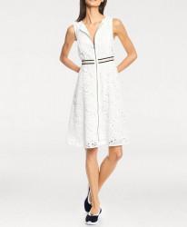 Šaty s vyšívanou čipkou biele #2
