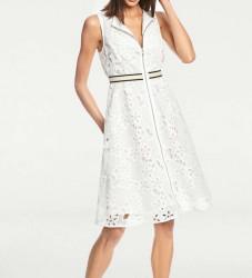 Šaty s vyšívanou čipkou biele #3