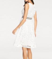 Šaty s vyšívanou čipkou biele #4