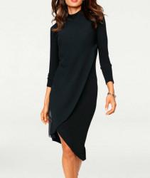 Šaty so šifónom Ashley Brooke, čierna