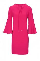 Šaty volánovými rukávmi v 3/4 dĺžke, ružová #1
