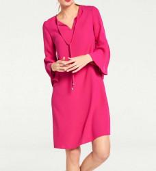 Šaty volánovými rukávmi v 3/4 dĺžke, ružová #2