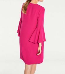 Šaty volánovými rukávmi v 3/4 dĺžke, ružová #3