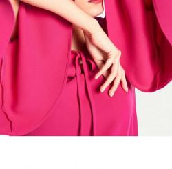 Šaty volánovými rukávmi v 3/4 dĺžke, ružová #5