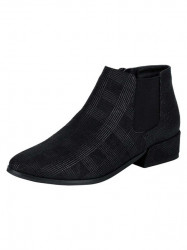 Semišové členkové topánky Andrea Conti, čierna