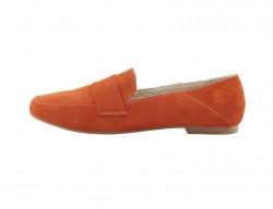 Semišové topánky Andrea Conti, oranžové #1