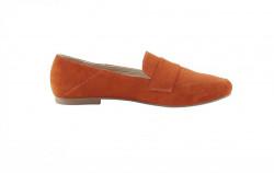 Semišové topánky Andrea Conti, oranžové #2