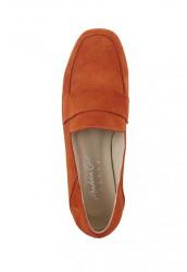 Semišové topánky Andrea Conti, oranžové #3
