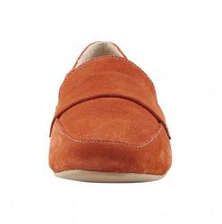 Semišové topánky Andrea Conti, oranžové #4