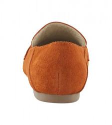 Semišové topánky Andrea Conti, oranžové #5