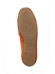 Semišové topánky Andrea Conti, oranžové #6