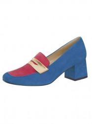 Semišové topánky HEINE, modro-ružová