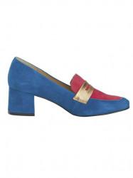 Semišové topánky HEINE, modro-ružová #2
