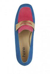 Semišové topánky HEINE, modro-ružová #3