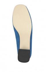 Semišové topánky HEINE, modro-ružová #6