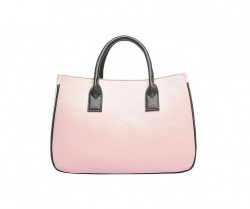 Shopper nákupná taška s kontrastnou farbou - ružová