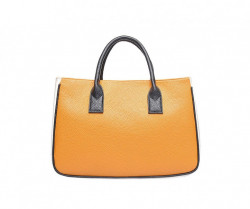 Shopper nákupná taška s kontrastnou farbou - žltá /