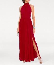 Šifónové červené večerné šaty #1