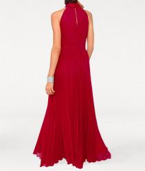 Šifónové červené večerné šaty #2