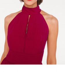 Šifónové červené večerné šaty #3