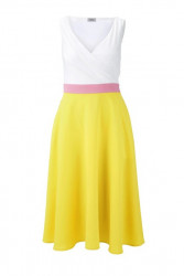Šifónové šaty HEINE, žlto-biele