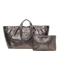 ŠIK cestovná taška + toaletná taška, ošuchané striebro