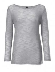 Sivý pulóver s flitrami