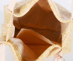 Slamená taška cez plece, béžová #2