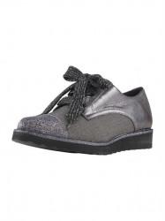 Šnurovacie topánky Heine, strieborno-šedé