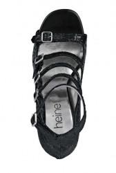 Spoločenské sandále Heine, čierna #3