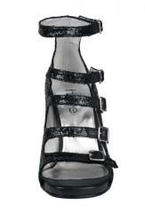 Spoločenské sandále Heine, čierna #4