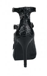 Spoločenské sandále Heine, čierna #5