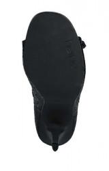 Spoločenské sandále Heine, čierna #6