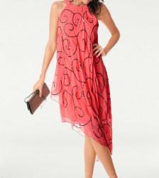 Spoločenské šaty Ashley Brooke, koralové