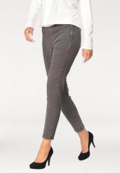 Strečové džínsy s potlačou, 30 palcov- šedá
