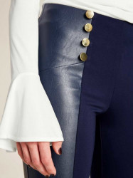 Strečové nohavice Ashley Brooke, modrá