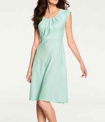 Strečové šaty, mentolovo-biele