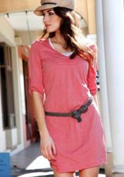Štýlové ružové šaty Aniston